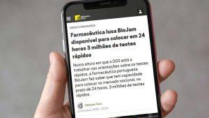 Farmacêutica lusa BioJam disponível para colocar em 24 horas 3 milhões de testes rápidos