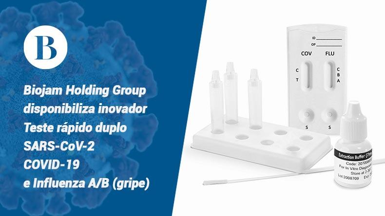 Urgências dos hospitais referência COVID-19 já estão motivados para fazer teste rápido duplo SARS-CoV-2 COVID-19 e Influenza (gripe). Biojam Holding Group oferece o primeiro disponível em Portugal