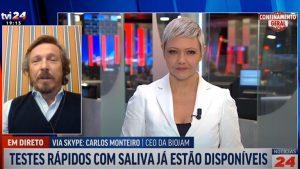 TVI24 – Carlos Monteiro sobre Testes rápidos Saliva Ag COVID-19